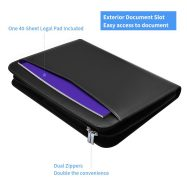 Premium Resume Business Leather Portfolio Folder with Phone Stand 1