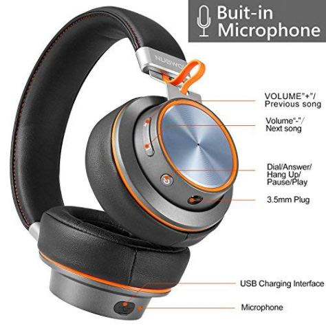 Wireless Bluetooth Headphones with Built-in Microphone Over Ear 1