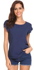 Women's Scoop Neck Cap Sleeve Tops 1