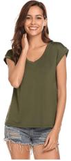Women's Scoop Neck Cap Sleeve Tops 2