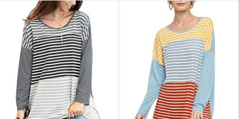 Womens Striped Loose Shirts.png
