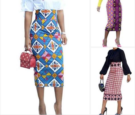 Womens Vintage Floral Print Stretchy Pencil Midi Skirt Bodycon Dress.png