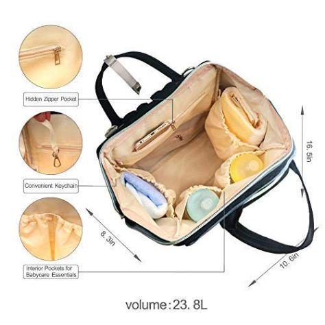 Large Capacity Insulation Travel Back Pack Nappy Bags Organizer 1