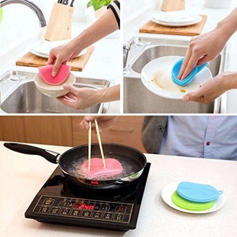 Multipurpose Antibacterial Silicone Dishwashing Scrub 1