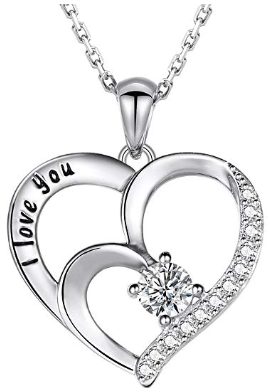 Sterling Silver Charm Love Heart Pendant A