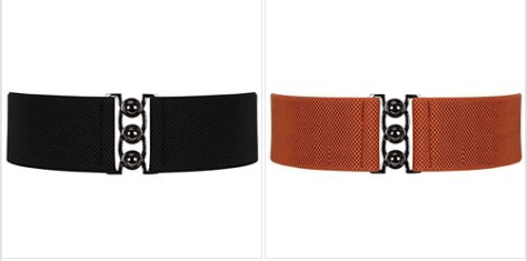 Wide Elastic Waist Belt for Women