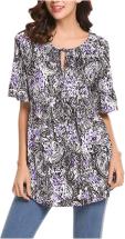 Women's Floral Printed Chiffon Shirts 3