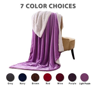 "Sherpa Blanket Throw Blankets Bed Blankets Light Purple Twin Size 60""x80"" for $19.99 w/code & coupon clip"