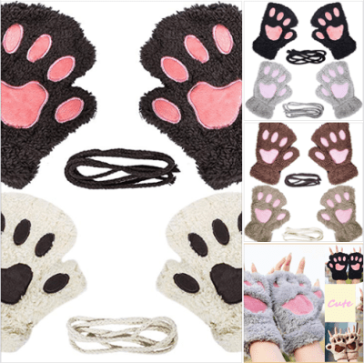 Amazon : 2 Pairs Womens Fingerless Cat Paw Gloves Just $5.99 (As of 2/19/2019 8.03 PM CST)