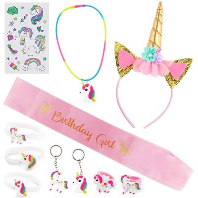 Set of Unicorn Birthday Party Supplies Kids Happy Birthday Party Favors for just $3.99