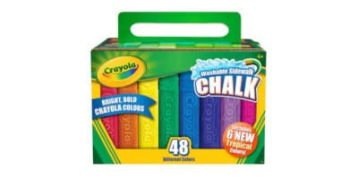 Crayola 48-Pack Tropical Sidewalk Chalk ONLY $2.99!
