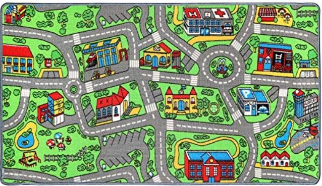 Click N Play Non-Slip City Life Kids Playmat Rug Large 53 x 39