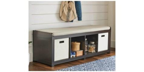 Deals Finders   Walmart : 4-Cube Organizer Storage Bench