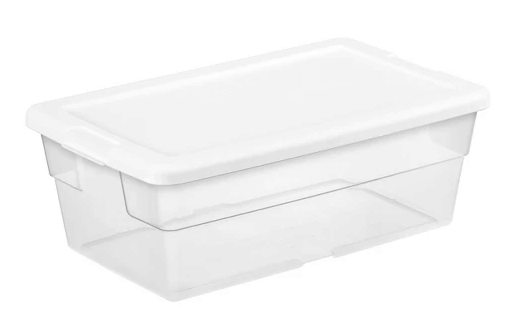 Target : 6 Qt Clear Storage Box White Lid Just $0.99 !!