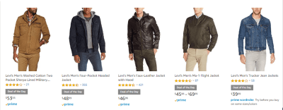 Amazon : Deal Of The Day Save huge on Levi's Men's Clothing & More Just Starting as low as $4.99 (As of 3/24/2019 9.27 AM CDT)