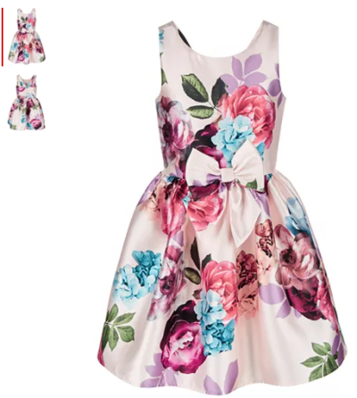 Macy's : Big Girls Bow-Front Floral-Print Dress Just $35.28 W/Code (Reg : $84)