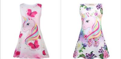 Amazon : Girls Cute Unicorn Pattern Sleeveless Dress Just $10.88 - $11.88 W/Code (Reg : $29.70) (As of 3/19/2019 7.32 PM CDT)