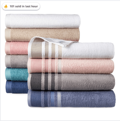 Jcpenney : Solid or Stripe Bath Towel Collection Just $3.19 W/Code (Reg : $10)