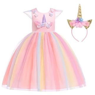 Amazon : Unicorn Princess Dresses With Headband Just $17.88 W/Code (Reg : $42.70) (As of 3/18/2019 1.58 PM CDT)