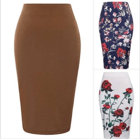 7dbbbb583 Amazon : Women's High Waist Bodycon Career Office Midi Pencil Skirt Just  $9.49 W/Code (Reg : $18.99) (As of 3/27/2019 9.54 AM CDT)