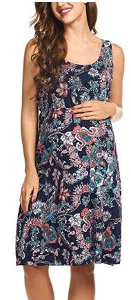 Amazon : Women's Maternity Sleeveless Dress Just $6 - $7.49 W/Code (Reg : $24.99) (As of 3/24/2019 4.53 PM CDT)