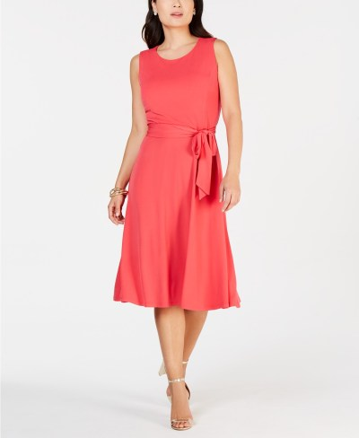 Macy's: Tie-Waist Midi Dress, Created for $39.75 (reg: $79.50)