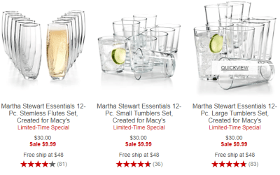Macy's : $9.99 (Reg : $30) Martha Stewart Essentials 12-Pc sets!!