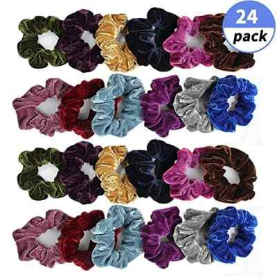 Amazon : 24 pcs Scrunchies Hair Ties Just $4.99 (As of 4/22/2019 9.48 AM CDT)