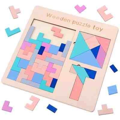 Amazon : 3 in 1 Wooden Tetris Puzzle Just $4.49 W/50% Off Applies At Checkout + Clip 5% Off Coupon (Reg : $15.99) (As of 4/13/2019 2.42 PM CDT)