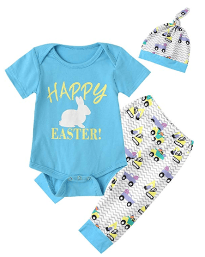 Amazon : Baby Boys' Cute Bunny Creeper Romper Pants with Hat Just $9.29 to $9.44 W/Code (Reg : $17.99) (As of 4/08/2019 10.16 PM CDT)