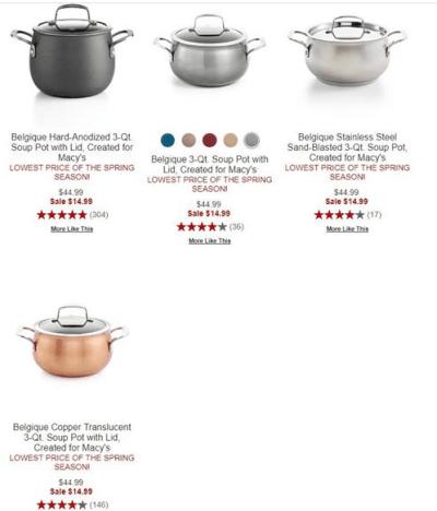 Macy's : Belgique 3-Qt. Soup Pot with Lid Just $14.99 (Reg : $44.99)