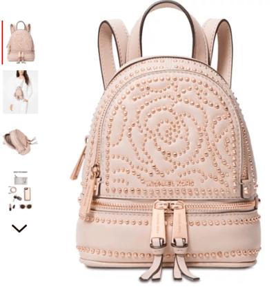 Macy's : Mini Zip Studded Convertible Backpack Just $128.93 (Reg : $328)