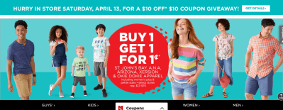 Jcpenney : *HOT* Okie Dokie Kids' Apparel 60% Off at JCPenney – Just $4.80 Each (Reg : $12)