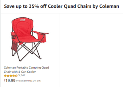 Amazon : Save huge on Cooler Quad Chairs by Coleman Just $19.99 (Reg : $30.94 - $34.99) (As of 4/20/2019 12.24 PM CDT)