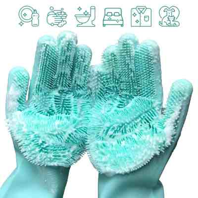 Amazon : Silicone Dishwashing Cleaning Gloves with Wash Scrubber Just $3.34 W/Code + Lightening Deal (Reg : $14.99) (As of 4/20/2019 3.36 PM CDT)