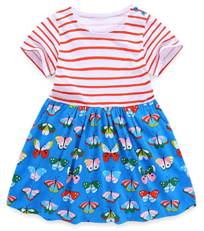 Amazon : Twirly Striped Toddler Girls Kids Dress Just $7.99 W/Code (Reg : $15.99) (As of 4/18/2019 9.42 AM CDT)