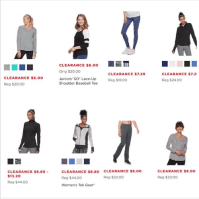 Kohl's : Women's Workout Clothes Just Starting As Low As $6!!