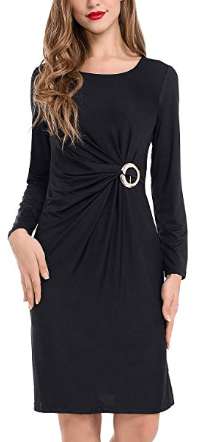 Amazon : Women's Wrap Long Sleeve V-Neck Dress Just $3.20 W/Code + $1 Off Coupon (Reg : $13.99) (As of 4/23/2019 5.01 PM CDT)