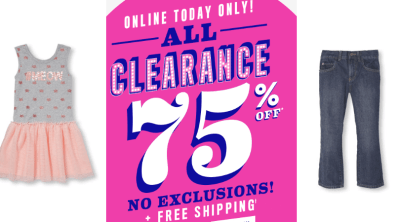 The Childrens Place : Spring Sale : Extra 75-80% Off Clearance + Free Shipping!!