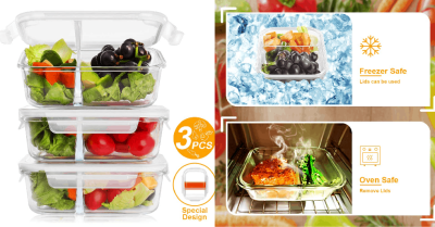 Amazon : 2 Sealed Compartment Glass Food Storage Containers with Lids Just $12.49 W/Code (Reg : $24.99) (As of 5/10/2019 3.04 PM CDT)