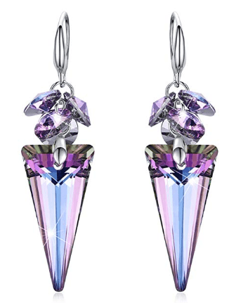 Amazon : Crystals Dangle Hook Earrings Just $8.39 to $14.99 W/Code (Reg : $17.99) (As of 5/19/2019 6.56 PM CDT)