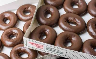 Krispy Kreme Chocolate Glazed Doughnuts ONLY $5 with Dozen Purchase on May 31st