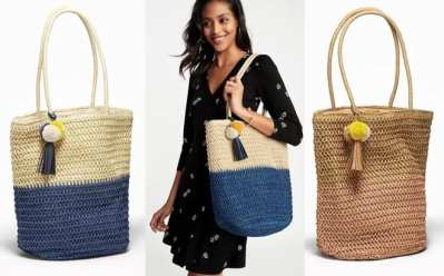 Old Navy : Straw Tote Bag Just $10 (Reg : $40) – Today Only In-Store & Online!