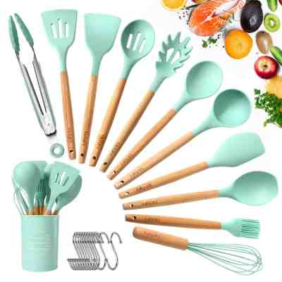 Amazon : 12pcs Silicone Cooking Kitchen Utensils Set Just $14.49 W/Code (Reg : $28.99) (As of 6/26/2019 3.01 PM CDT)