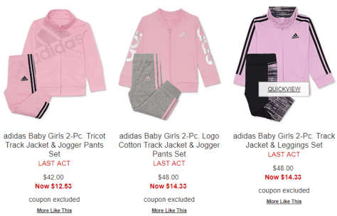 0d59b406f83 Deals Finders | Macy's : Adidas Baby Girls Sets AS LOW AS $10.73 ...
