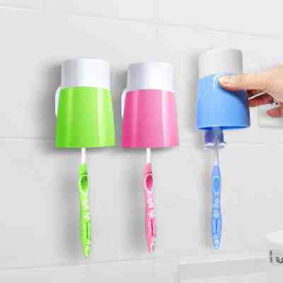 Anti-dust Toothbrush Holder Wall Mount with 3 Cups for Bathroom for $3.44 ✂️ 50% OFF Coupon