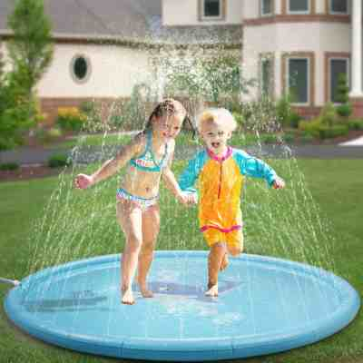 Amazon : Splash Pad& Sprinkler Mat 68'' Just $10.99 W/Code (Reg : $21.99) (As of 6/17/2019 5.16 PM CDT)