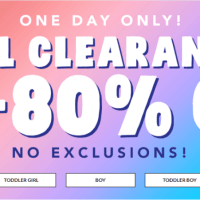 The Childrens Place : Summer Sale : Extra 75%-80% Off Clearance