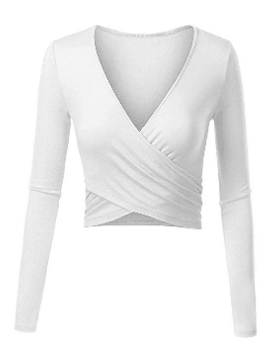 Amazon : Women's Deep V Neck Long Sleeve Unique Shirts Just $5 W/Code (Reg : $24.99) (As of 6/19/2019 4.29 PM CDT)