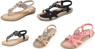 Amazon : Women's Floral Rhinestone Thong Sandal Just $12.29 W/Code + $2 Off Coupon (Reg : $25.99) (As of 6/19/2019 2.14 PM CDT)